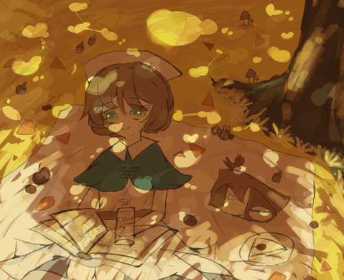 趁着活动画一下艾米丽~秋天来了...