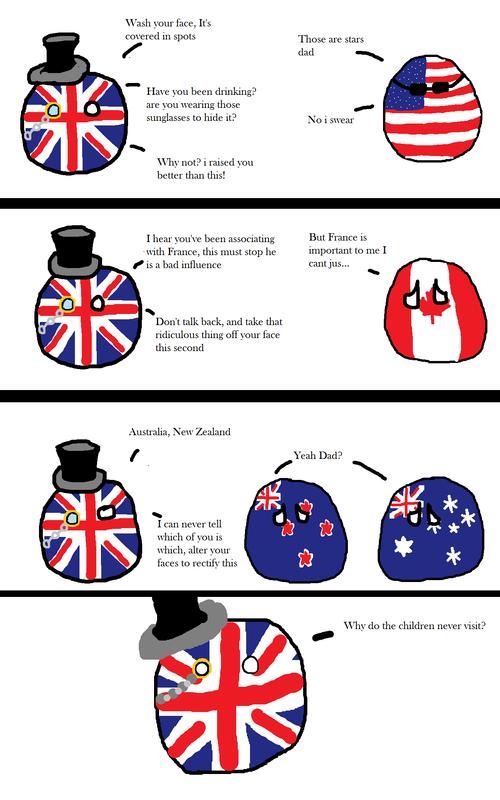 英国球和儿子们 第一格 英:你...