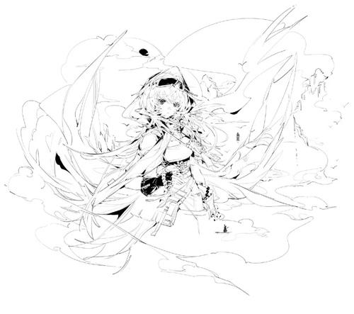 【绘画素材】动漫少女的动态姿势...